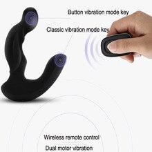 Levett мужской задержки climax простаты массажер беспроводной пульт дистанционного управления электрический анальный вибратор секс-игрушки для мужчин эротические игрушки
