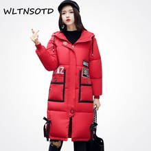 Ukraine Promotion Real Wide-waisted 2017 Winter Jacket Women Pockets Tide And Autumn Warm Parkas Jackets Outwear Long Coats