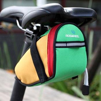 eaeca38fe02 Roswheel de Bicicleta de carretera MTB sillín bolsa de Ciclismo de la cesta  de la Bicicleta silla bolsa Bicicleta trasera de Bicicleta alforjas asiento  ...