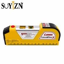 8FT/250cm Laser Level Horizon Vertical Measure Tape Aligner Bubbles Ruler Multifunction Laser Levels Leveler Tool ZK217