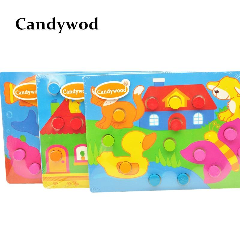 Träleksaker Tangram / Jigsaw Board Cartoon Puzzle Jigsaw Kids Early - Spel och pussel - Foto 6