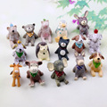 15pcs/lot Japanese Animal Figures Doll 3-5cm Kawaii Resin Action Figures Toys Creative Ornament Children's Gift Home Decoration