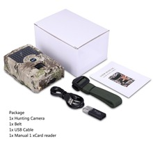PR200 Trail Camera 1080P HD IR LED Hunting Waterproof Wildlife Night Vision Photo Traps Scouting Motion C