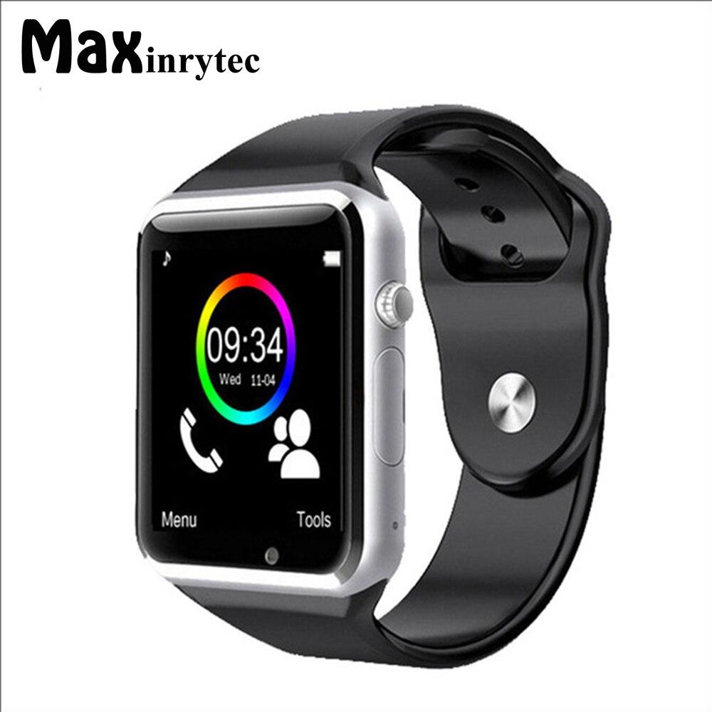 Maxinrytec A1 Montre-Bracelet Bluetooth Montre Smart Watch Sport Podomètre Soutien SIM TF carte Caméra Smartwatch Pour Android Smartphone