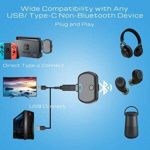 Image 3 - VIKEFON Bluetooth 5,0 аудио передатчик адаптер APTX низкая задержка для Nintendo переключатель PS4 ТВ ПК, USB/Type C беспроводной передатчик