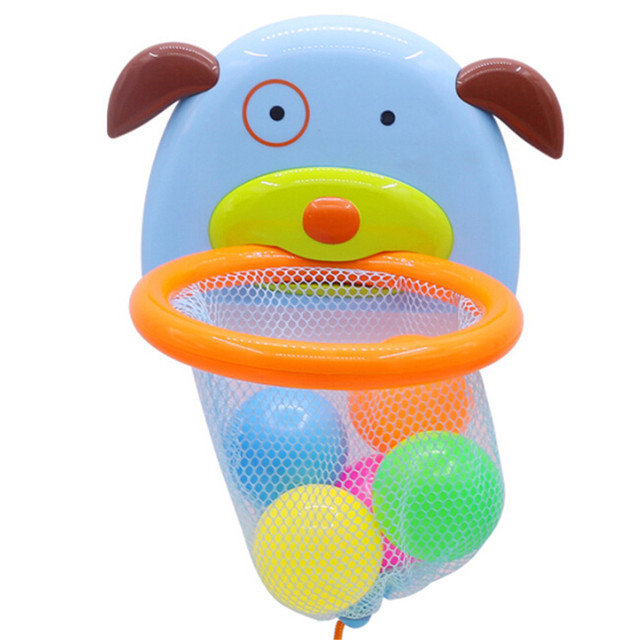 Floating Puppy Water Toy Bathtub Bath Shoot And Splash Basketball Hoop Sets For Children For The Bathroom Cognitive