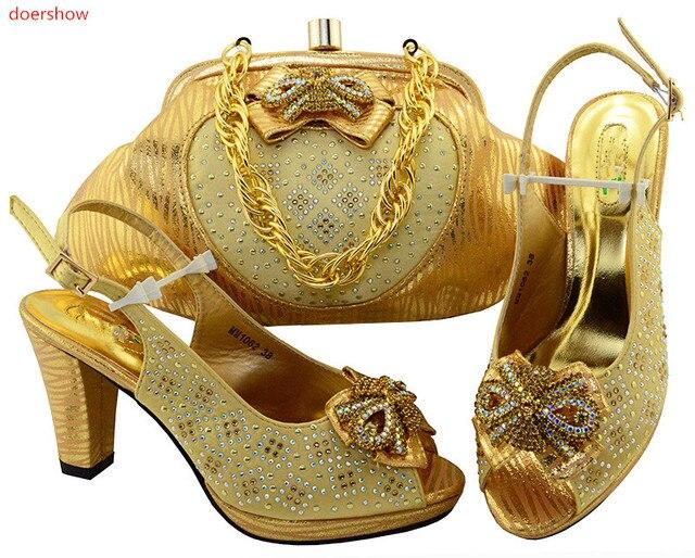 Doershow Las Designer Matching Shoes And Bags African Bag Set Beautiful Italian