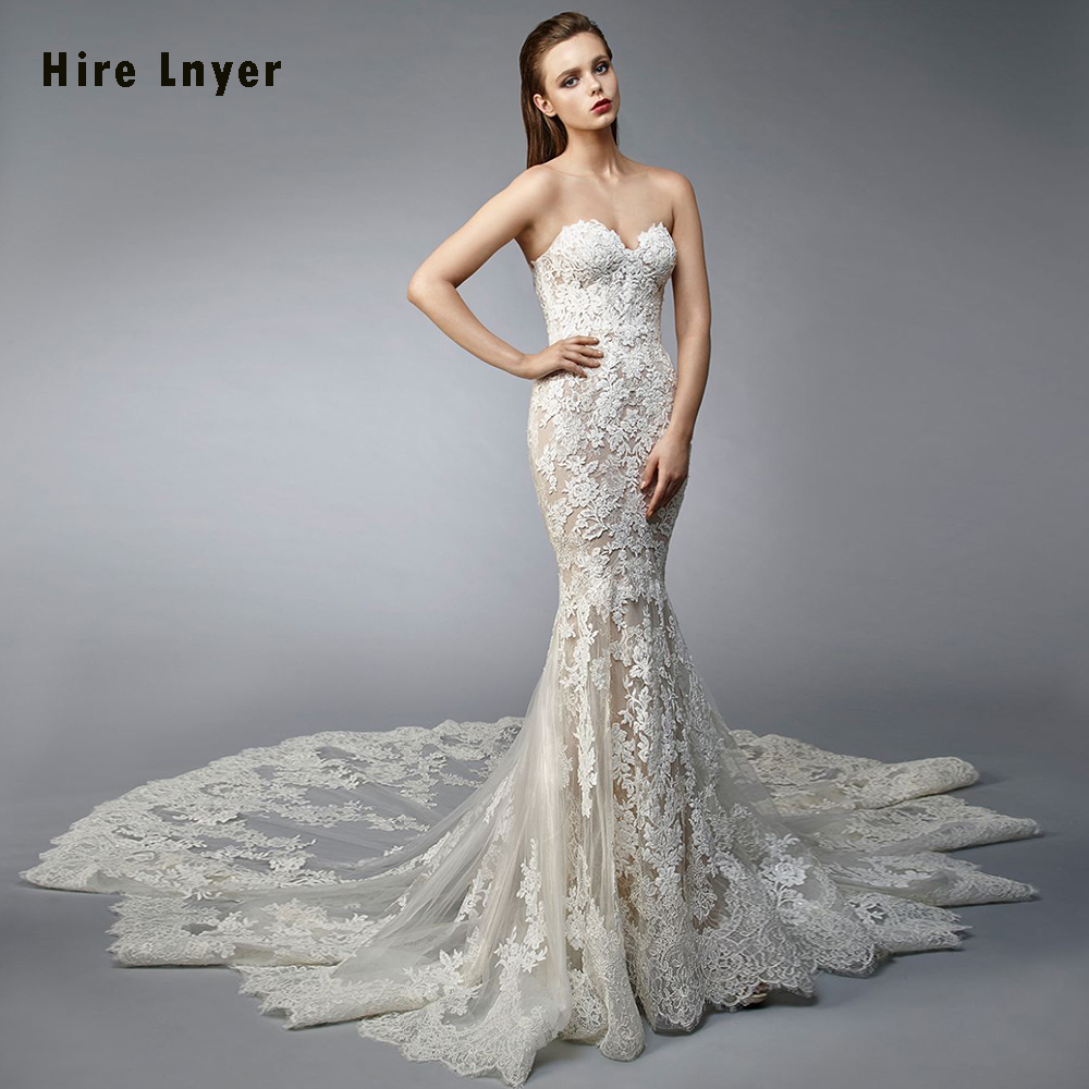 Sweetheart Neckline Lace Mermaid Wedding Dresses New 2019: Vestido De Novia Sirena 2019 New Special Sweetheart Neck