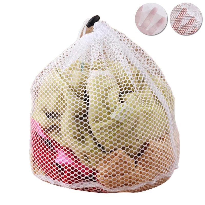 Drawstring Bra Underwear Products Baskets Mesh Bag Cleaning Thickened oversized Coilge bag Home Storage Organizer Supplies 3
