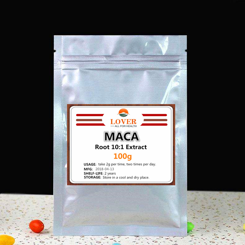 100g-1000g 100% Pure Maca Root 10:1 Extract Powder,For Man and Woman to Increase Energy.High Quality and Fresh Supplement 1kg high quality peru black maca extract powder 10 1 peru maca lepidium meyenii free shipping