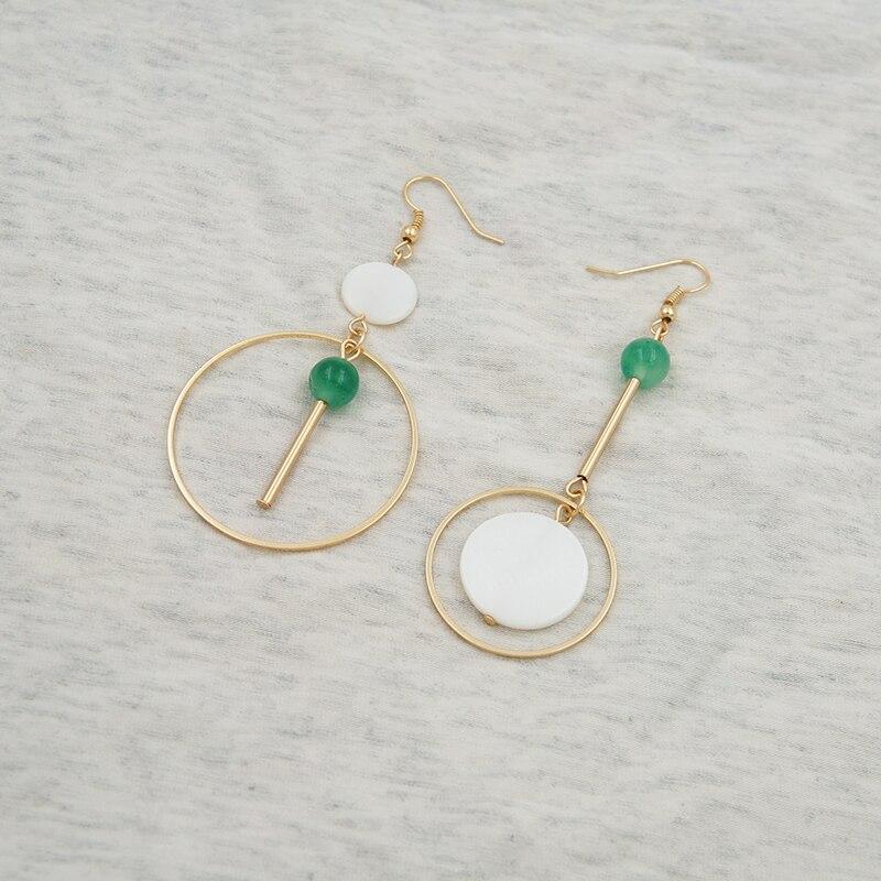 , Die Alte Weisen Ist Handgemachten Schmuck Minimalistischen Natürlichen Kristall Anhänger Ohrringe Asymmetrische Shell Ohrringe Ohrringe