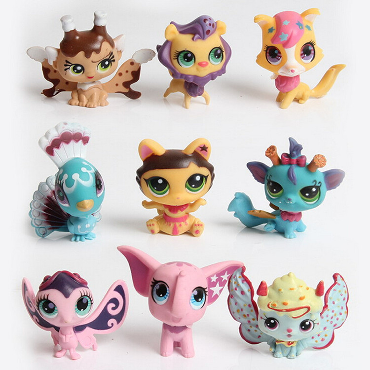 12Pcs/Set Children Kids toys Gift Mini Figures Toys Little pet Animal Cat Dog LPS Action Figures new lps lovely toys animal cartoon cat dog action figures collection kids toys gifts