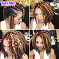 12 Inch Havana Mambo Twist Crochet Braids Hair Extensions 80g/Pack Senegalese Twist Crochet Synthetic Braiding Hair Ombre 12Root