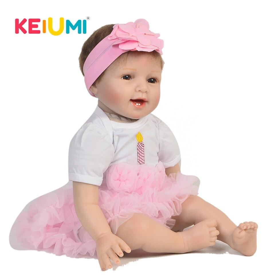 เหมือนจริง 22 นิ้วทารกแรกเกิด Reborn ตุ๊กตาซิลิโคน 55 ซม.สมจริงใบหน้ายิ้มตุ๊กตาทารกสำหรับขายส่งเด็กวันของขวัญ-ใน ตุ๊กตา จาก ของเล่นและงานอดิเรก บน   1