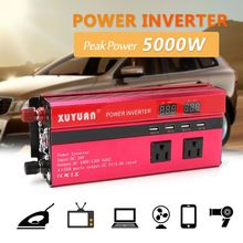 Inverter 12V/24V 220V 5000W Peak Power Inverter Convertor Voltage Transformer Sine Wave Inversor 12V/24V 110V + LCD Display