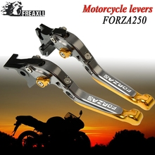 цена на For Honda FORZA 250 2010-2018 2011 2012 2013 2014 2015 2016 2017 Motorcycle Folding Extendable Adjustable Brake Clutch Levers