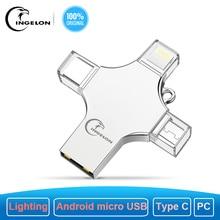 Ingelon pamięć USB 256 GB Pendrive 128GB Photostick Extra OTG Cle USB Dropship DIY niestandardowy muzyka brelok USB 256 GB dla USB iphone