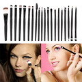 New Arrival  20 pcs Professional Makeup Beauty Cosmetic Blush Black Brushes Kits New Quality Hot