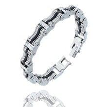 Fashion Bracelet Men Stainless Steel Biker Bicycle Motorcycle Chain Bracelets Bangles Jewelry Wholesale