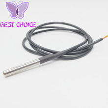 Free Shipping 1pcs DS18B20 Stainless steel package 1 meters waterproof DS18b20 temperature probe temperature sensor 18B20(China (Mainland))