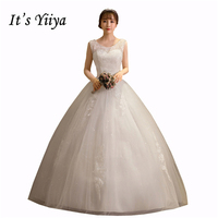 Free Shipping New 2017 Summer O Neck Lace Simple Wedding Dresses Plus Size Princess Bride Frocks