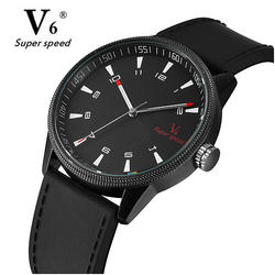 V6 часы Для мужчин Лидирующий бренд военные часы силиконовый ремешок Для мужчин s часы Водонепроницаемый спортивные часы Hour Clock relogio masculino