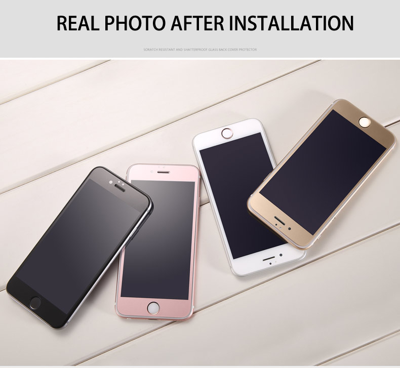 Top Quality 9H 3D Colorful Premium Tempered Glass For iPhone 6 6S Plus 4.7 5.5 inch Rose Gold Screen Protector Film Case Cover