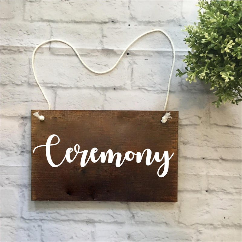 Wedding Rustic Wedding Decoration Decals