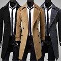 CHAMSGEND WillBeen Homens Magro Elegante Casaco Trench Coat Inverno Double Breasted Longo Casaco Parka Moda Feb3