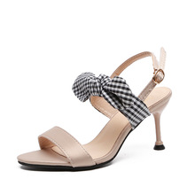 цена на Women Shoes 2019 Buckle Strap Heels Women Sandals Summer Shoes Woman Open Toe Chunky High Heels Party Dress Sandals