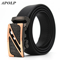 APOLP 2017 genuine Leather Belts For Men mens belts luxury designer belts men high quality crocodile grain Jeans pants Z belts