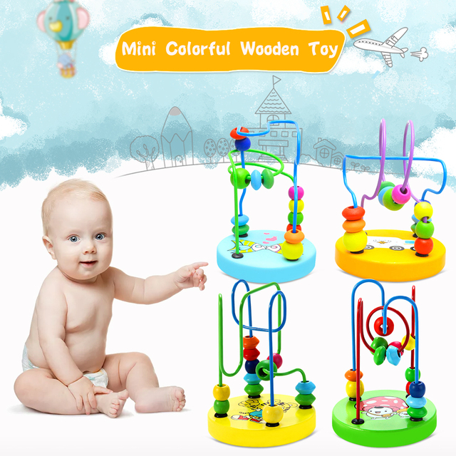 Baby\'s Toys Mini Colorful Educational Game Baby Wooden Toy Around ...