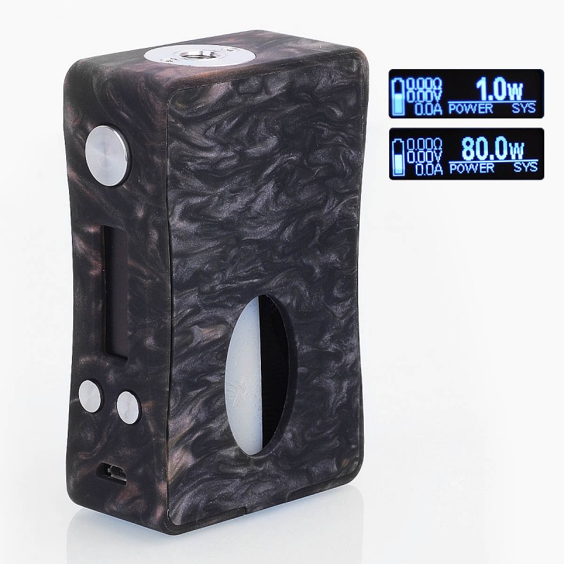 Original Aleader Box Killer 80W BF Bottom Feeder Resin Single 18650 Squonk TC VW Variable Wattage Mod with 7ml Bottle Vape Mod benecig killer 260w mechanical mod