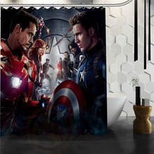 Custom The avengers, Marvel hero shower curtain new large European and American big ideas print edition polyester bath curtain(China)
