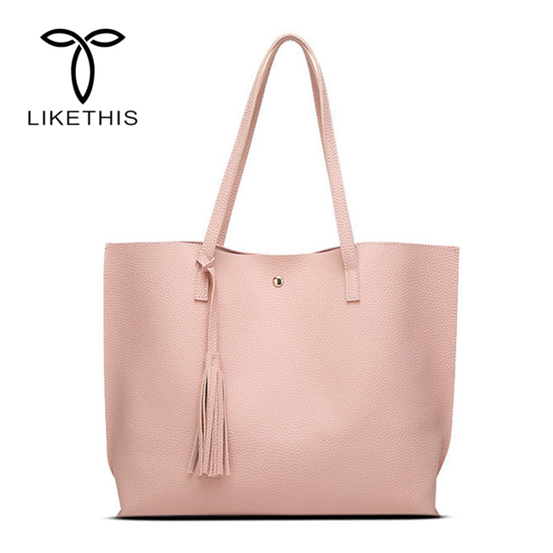 Soft Solid Leather Women Lady Handbag Bag Fashion Tassel Messenger Tote Bags Women Large Capacity Shoulder Bag Shopping Tote svy winter fashion fur evening bag for lady handbag women day clutch small tote wristlet bag messenger bag pochette shopping bag
