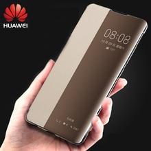 HUAWEI P40pro P30pro מקרה Flip מקורי 100% רשמי תצוגה חכמה חמוד עור Huawei P40 פרו מקרה P30 פרו מקרה מקורי כיסוי