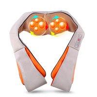 U Shape Electrical Shiatsu Back Neck Shoulder Massager Body Spa Infrared 4D Heated kneading Massagem Car Home Dual Use Massagem
