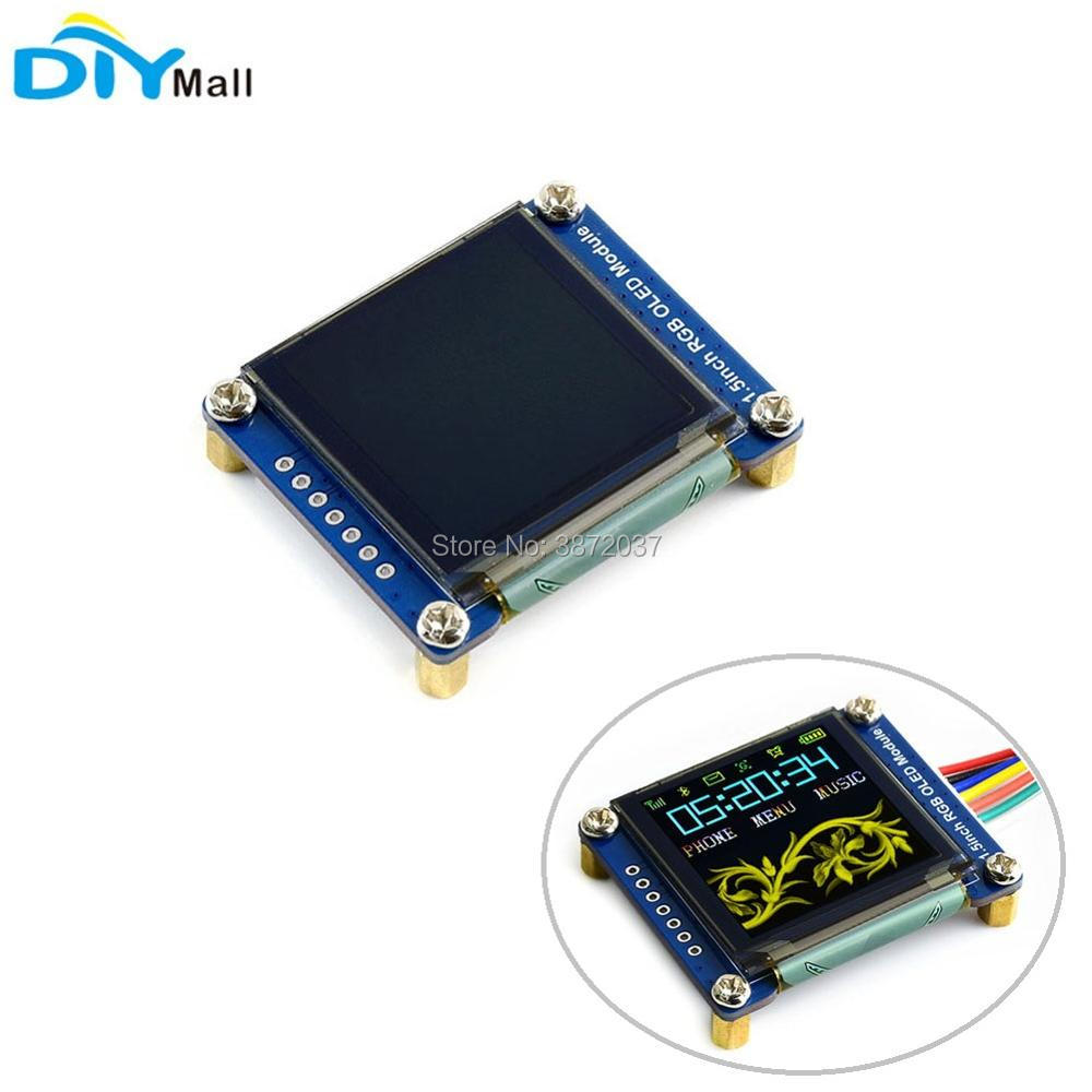 цена на 1.5inch 1.5 RGB OLED Screen Display Module 128X128 SSD1351 SPI I2C IIC for Arduino Raspberry Pi STM32