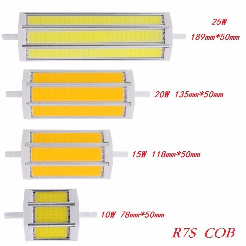 R7s cob led bulb lights j78 10w 78mm j118 15w 118mm j135 20w 135mm 25w 189mm lighting lamp for R7s led 118mm 20w
