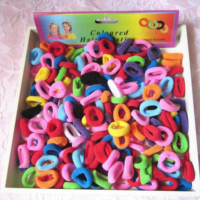 1 упаковка, маленькие кольца, резинки для волос для девочек, цветная эластичная резинка для волос, десны, детская резиновая лента, конский хвост, зажим для волос аксессуары, головной убор