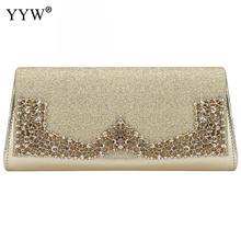 YYW Black Luxury Rhinestone Pu Leather Wedding Handbag Clutch Female 2019 Large Envelope Phone Bags White Purse Sac Main Femme