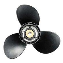 Подвесной пропеллер 58100-93723-019 для Suzuki 8-20Hp 9 1/4X9, алюминиевый сплав, 3 лезвия, черный, 10 шлицевых Зубцов, вращение