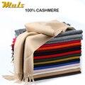 15 Colores Muls 2016 recién llegado de invierno bufanda de la Cachemira hombres de Alta calidad Hombres Mujeres bufandas mujer de Lujo gran mantón de la piel del poncho masculino