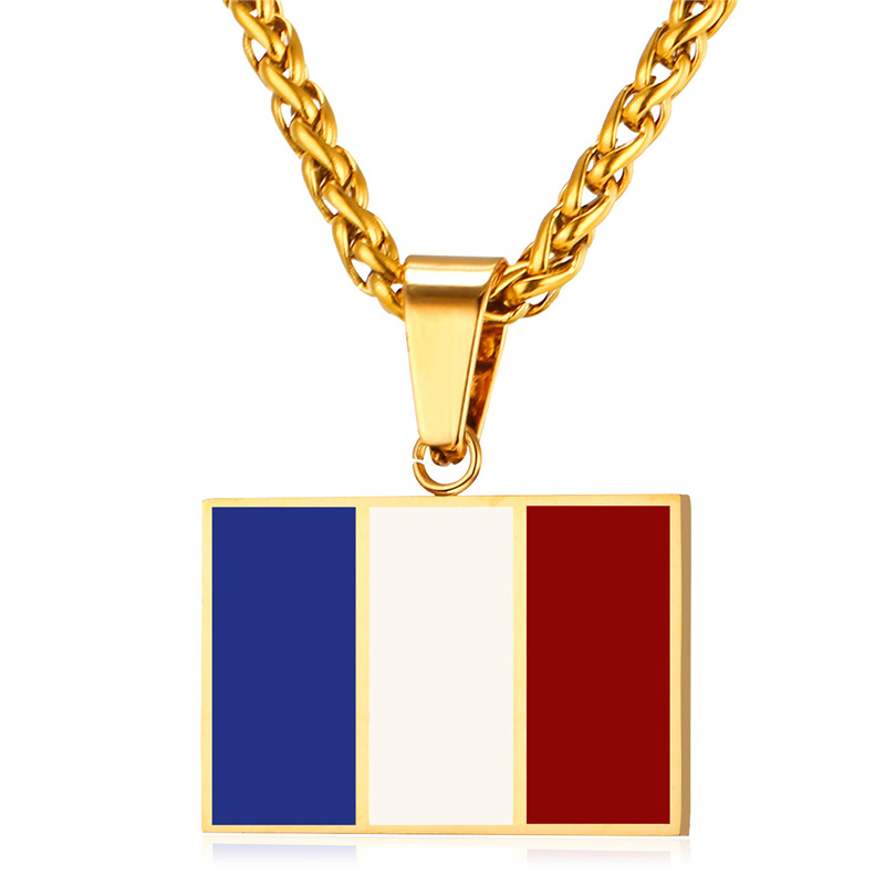 Flag of france necklaces pendants yellow gold color stainless flag of france necklaces pendants yellow gold color stainless steel french symbol design necklace women men jewelry p025 in pendant necklaces from jewelry aloadofball Gallery