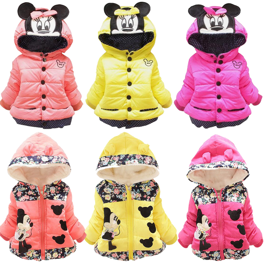 купить 2018 New Winter Children Hello Kitty Minnie Warm Outerwear Clothing Cartoon Baby Kids Girls White And Red Clothes Costume онлайн