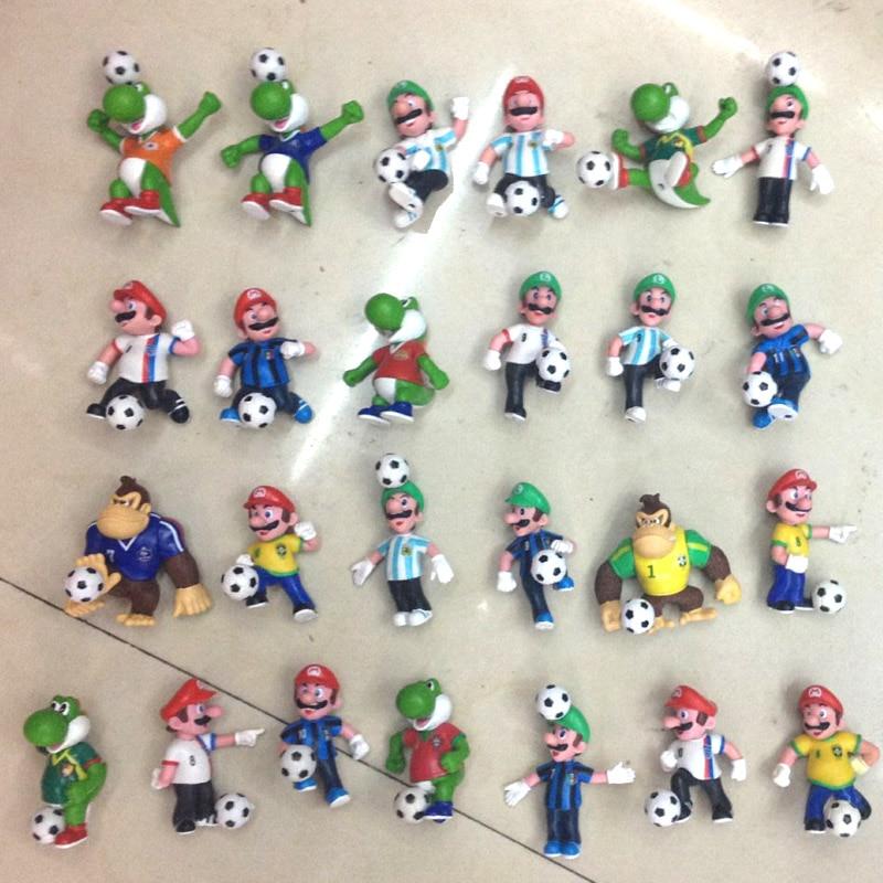 Football Toys For Boys : Pcs lot super mario figures soccer game toys