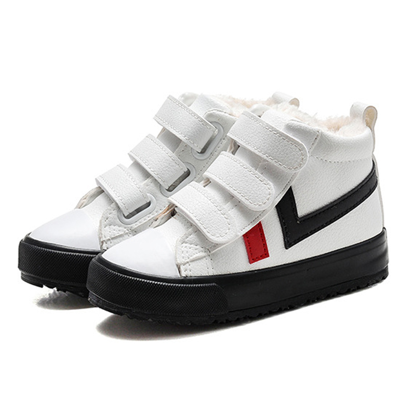 7ce5afdc9730 Best buy DapChild Kids Ankle Boots Children Winter Sports Shoes Girls Boys  Warm Thick Plush Sneakers Children Casual Shoes PU Footwear cheap online.  ...