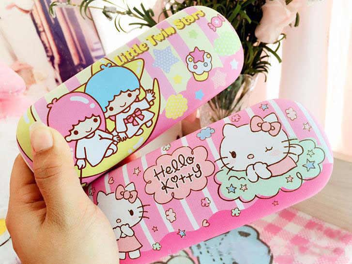 539ca34d7d ... 1 Pcs Kawaii Little Twin Star Hello Kitty PU pencil case pencil bag  decoration For Kids