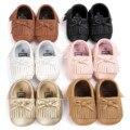Calle Envío de La Manera Borla Zapatos de Cuero Mocasines Zapatos Del Niño de La Muchacha Del Niño Recién Nacido Del Bebé Zapatos Primer Caminante P225