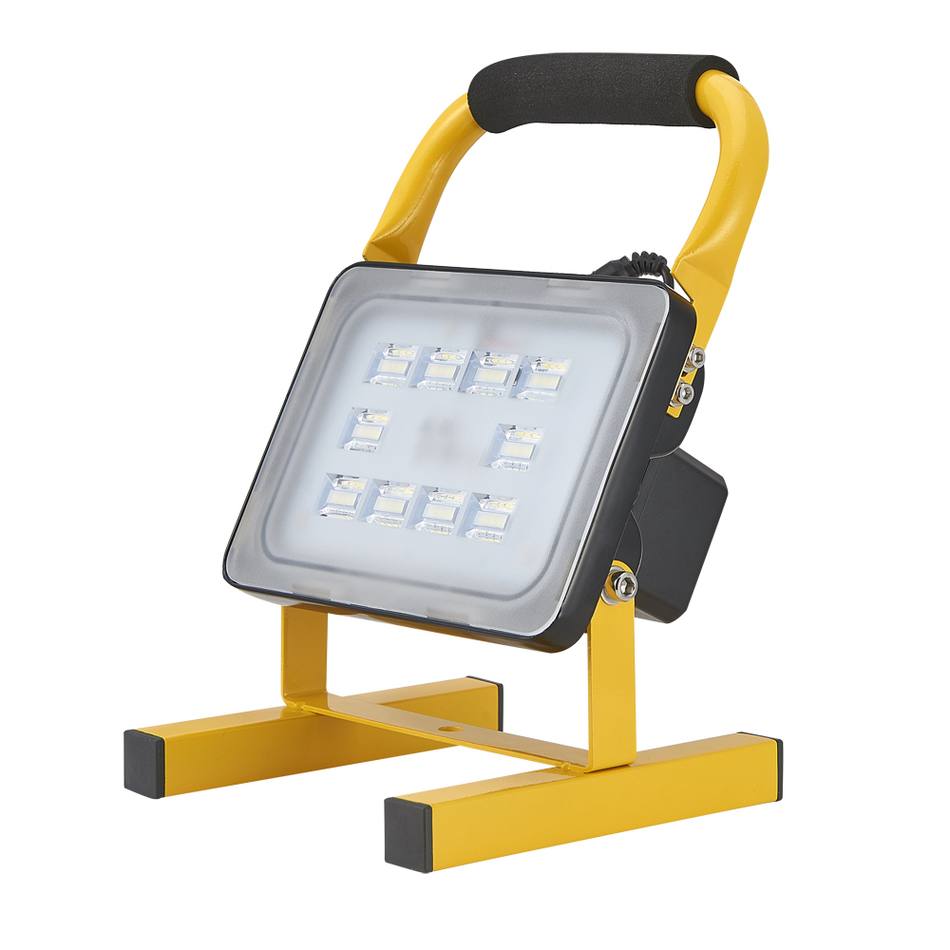 Kaigelin Rechargeable Flood Lights 10W 12V Portable LED Floodlight  Connected To Car Or 220V Home AC